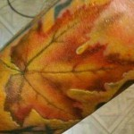 tattoo leaf